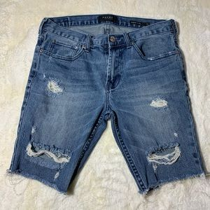 Pacsun Skinniest Distressed Shorts Size 31